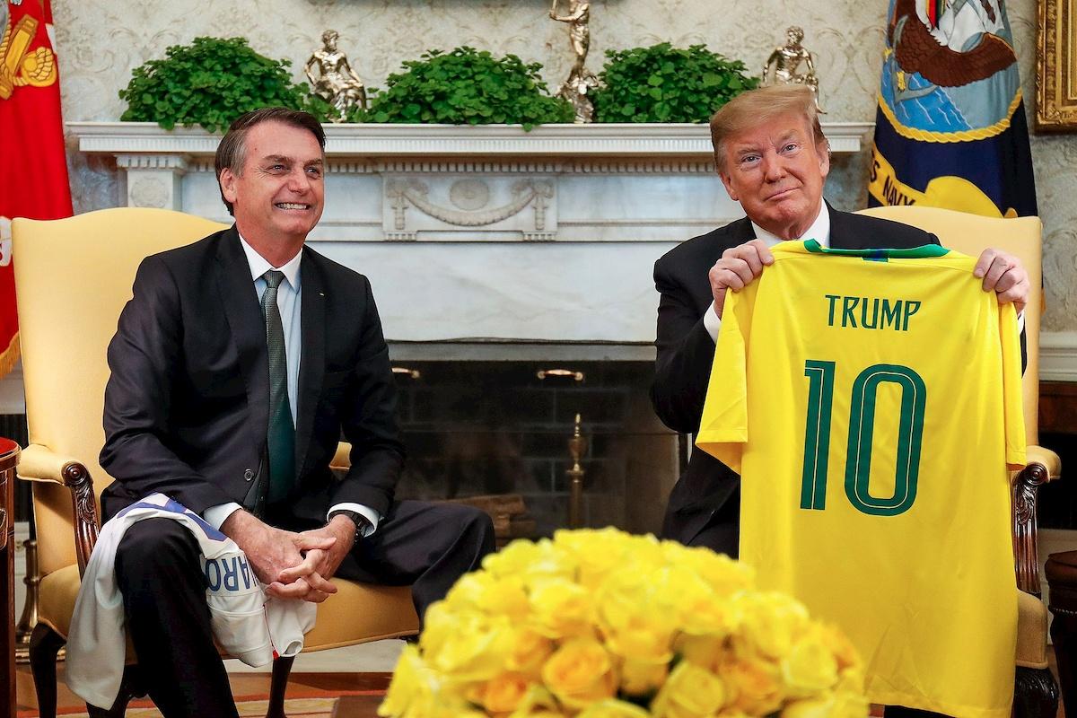 Bolsonaro iTrump. Fot.Internet.