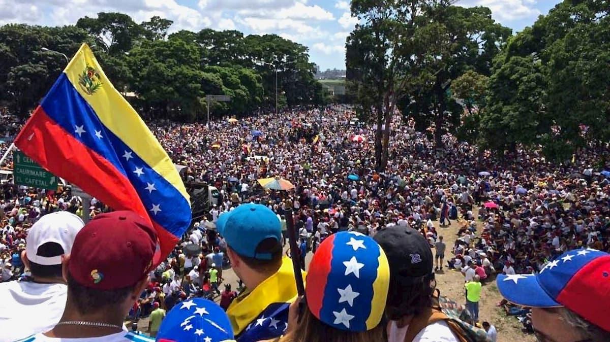 Protesty głodnych Wenezuelczyków. Fot.Internet.