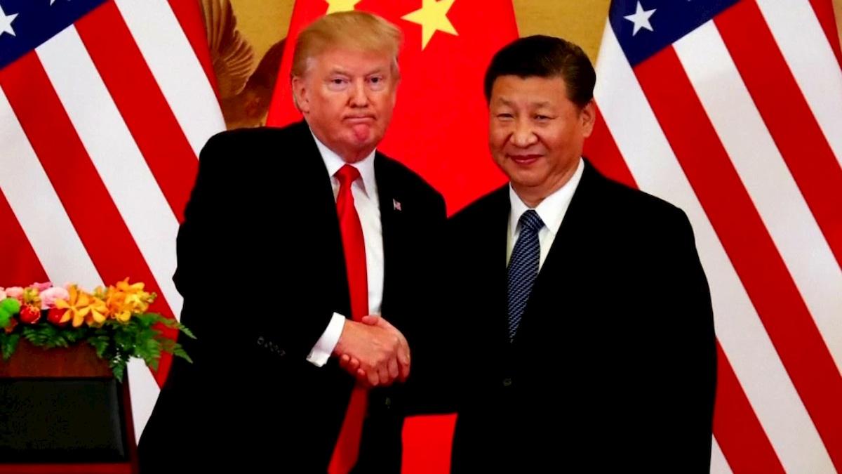 Donald Trump iXi Jinping podczas spotkania w2017 r. Fot.YT