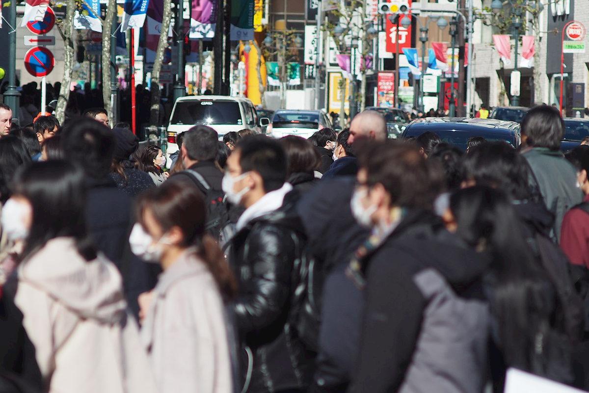 Ulica wTokio wczasach koronawirusa. Fot.Internet