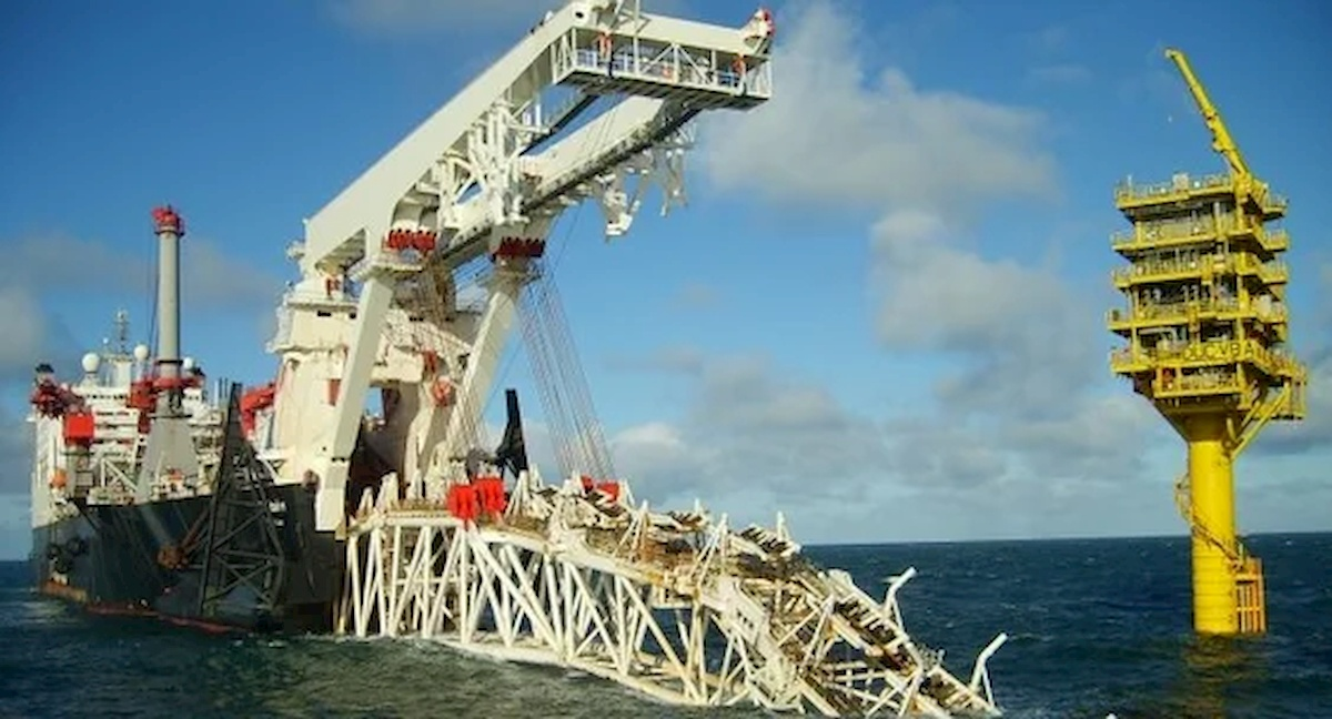 Układanie gazociągu Nord Steam-2. Fot.Internet