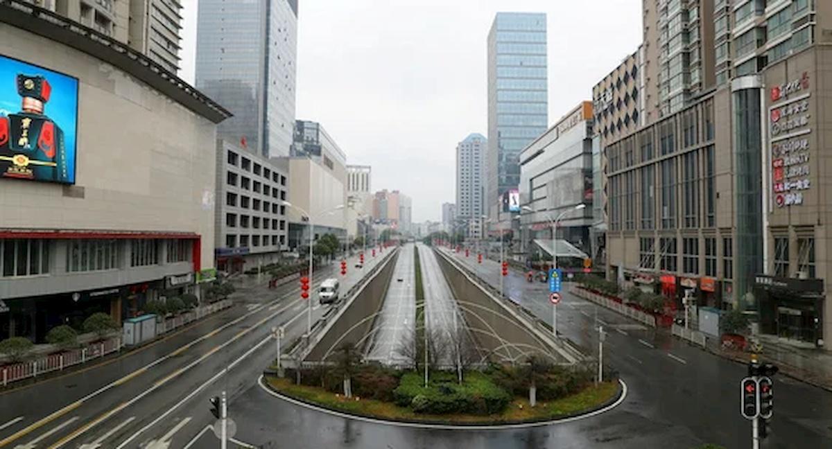 Wuhan wczasie epidemii. Fot.Internet