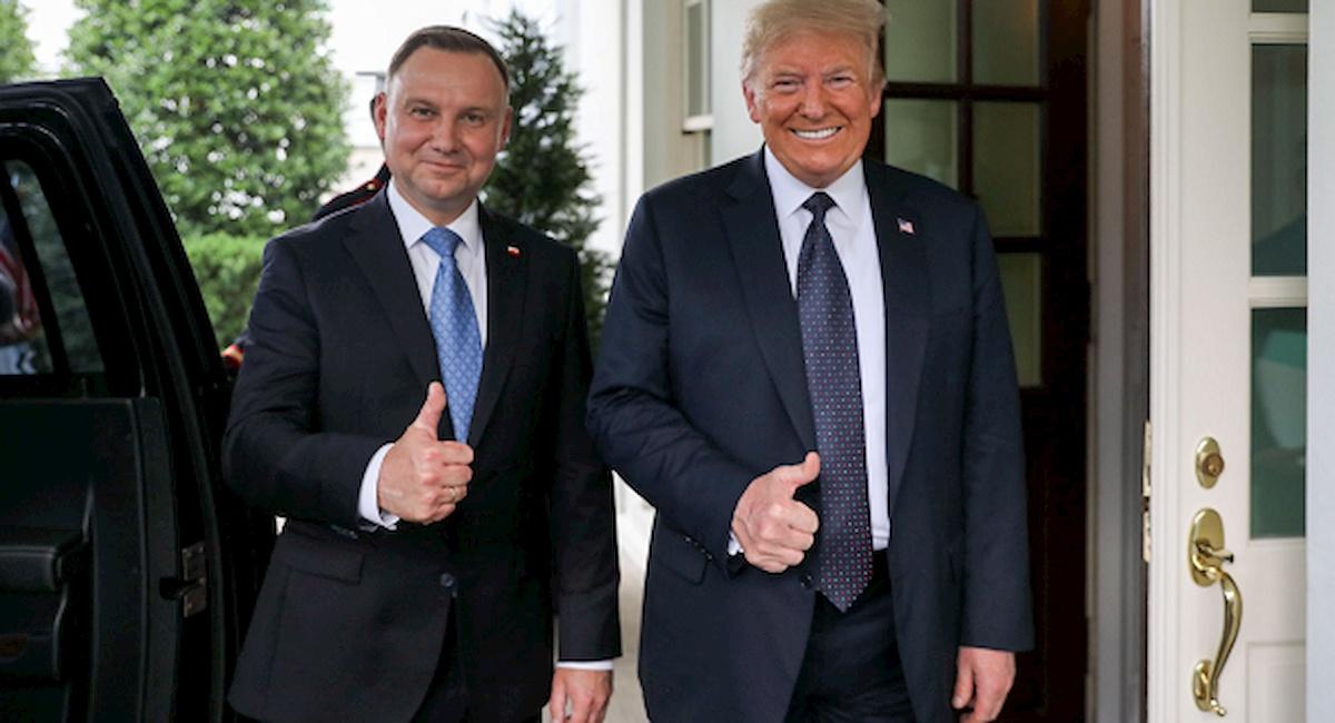 Andrzej Duda iDonald Trump. Fot.KPRP