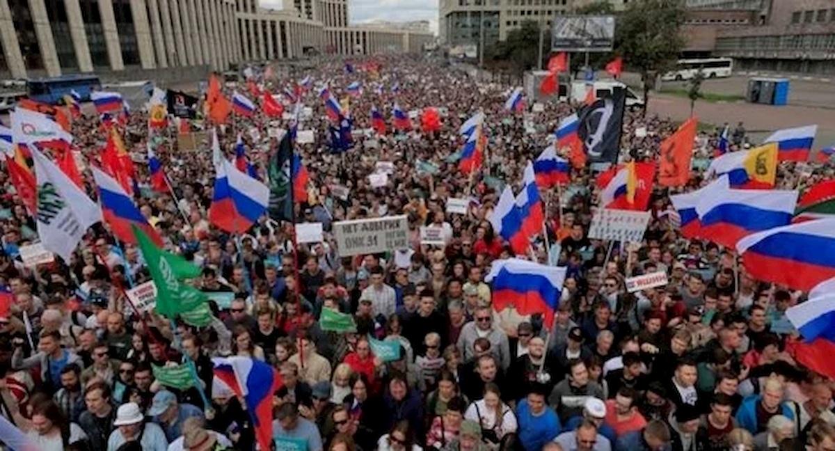 Masowe protesty wRosji Fot.domena publiczna