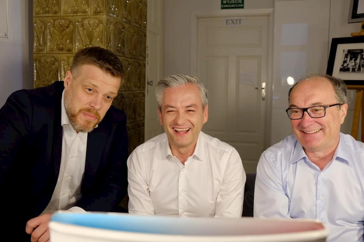 Adrian Zandberg, Robert Biedroń iWłodzimierz Czarzasty. Fot.Facebook