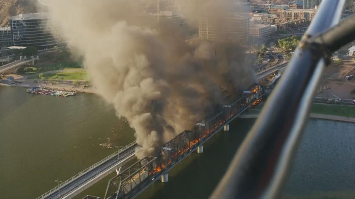 Pożar wTempe. Fot.YouTube