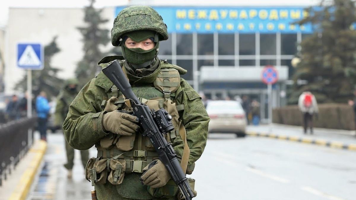 Żołnierze rosyjscy na Krymie. Fot. YouTube