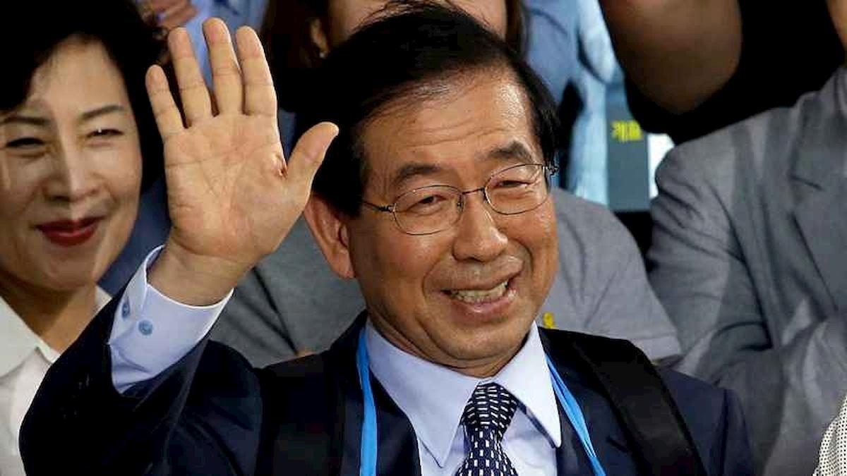 Burmistrz Seulu Park Won-soon. Fot.YouTube