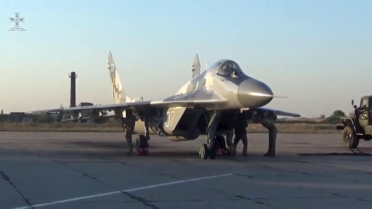 Ukraiński MiG-29. Fot.YouTube