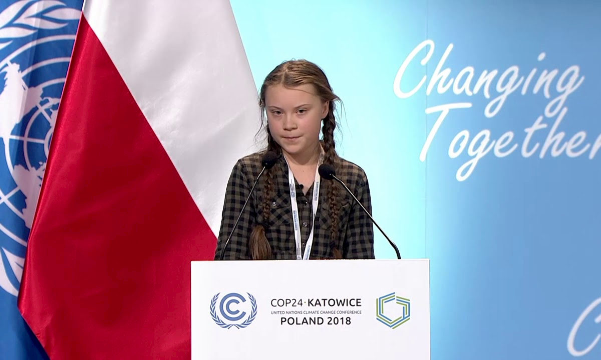 Greta Thunberg. Fot. YouTube