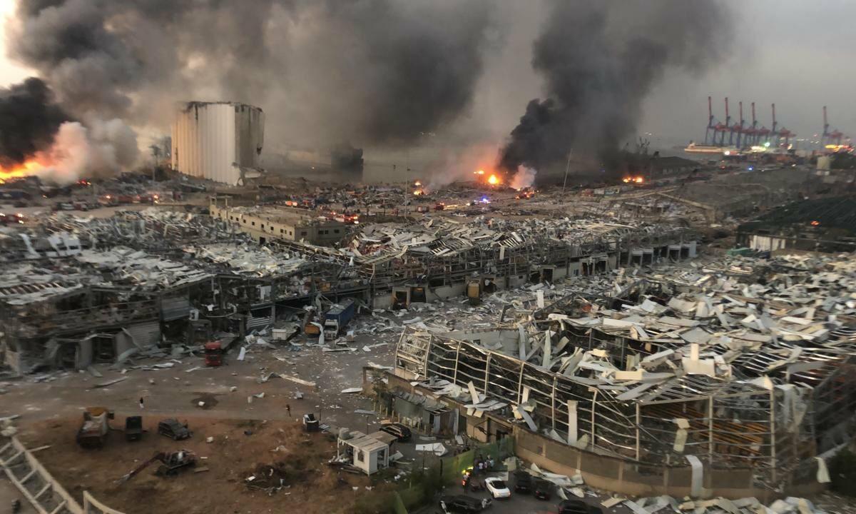 Skutki wybuchu wBejrucie. Fot.domena publiczna