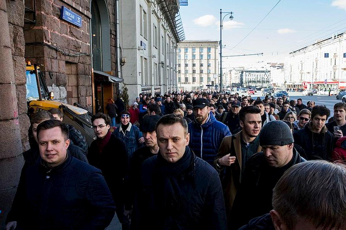 Lider rosyjskiej opozycji Aleksiej Nawalny. Fot.domena publiczna