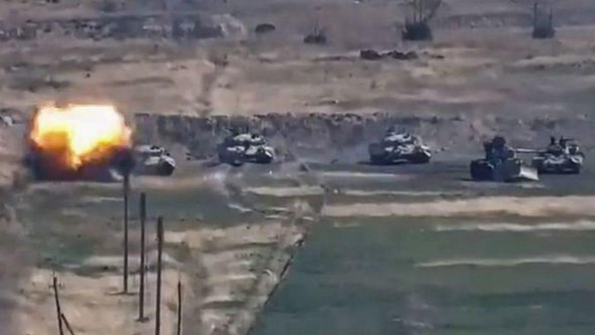 Walki azersko-ormiańskie. Fot.YouTube