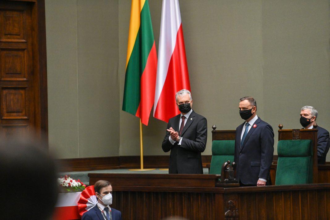 Prezydenci Litwy iPolski wSejmie. Fot.Facebook