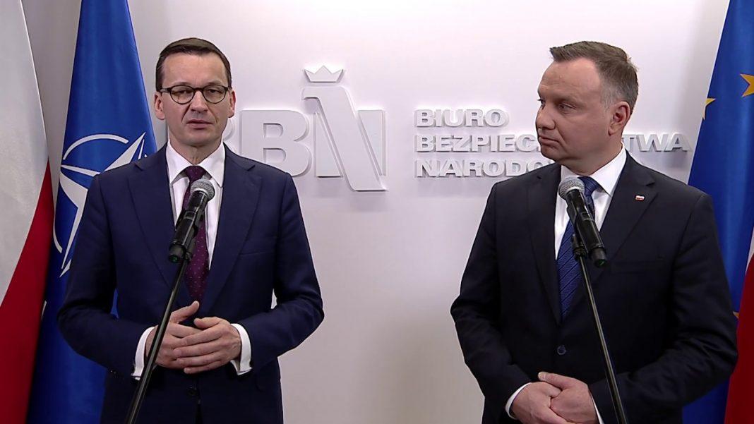 Andrzej Duda iMateusz Morawiecki. Fot.YouTube